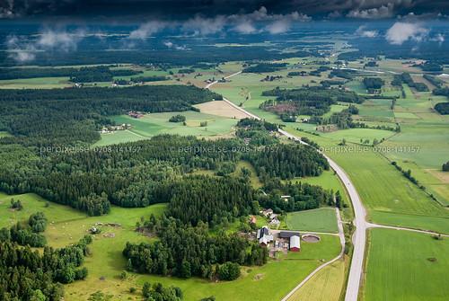 sweden swe västragötaland vårgårda flygfoto tumberg