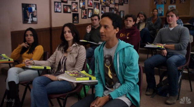Abed wearing my @New_Standard_ Boss Monkey shirt!