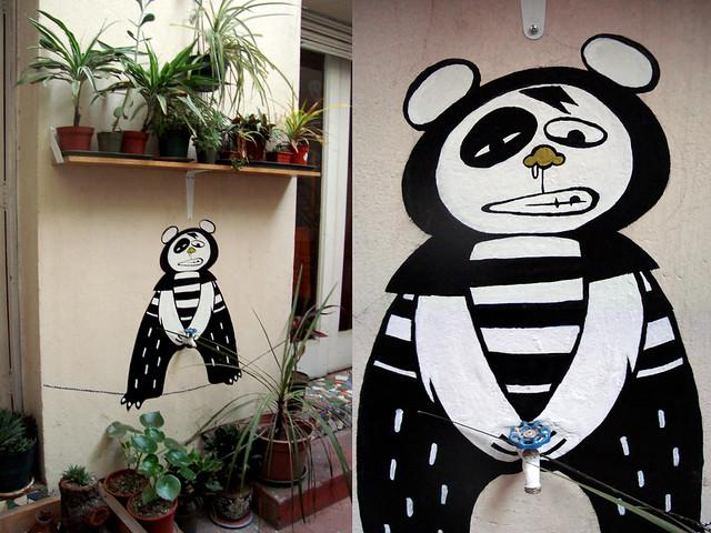 el panda del patio