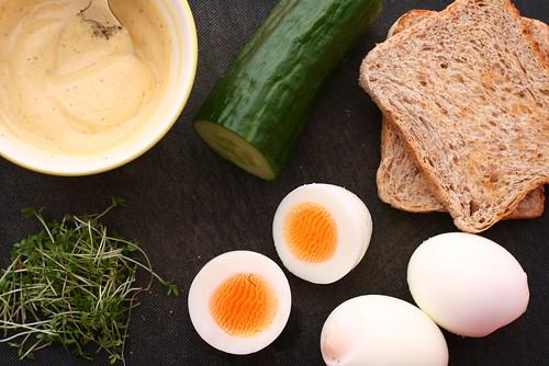 Katrin 39 s blog eier gurken sandwiches - Eier hart kochen zeit ...