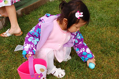 child, flower, clothing, purple, play, easter, pink, dress, toddler,