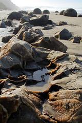 Broken Moeraki boulders