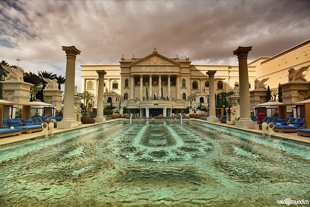 caesars palace hotel swimming pool las vegas flickr