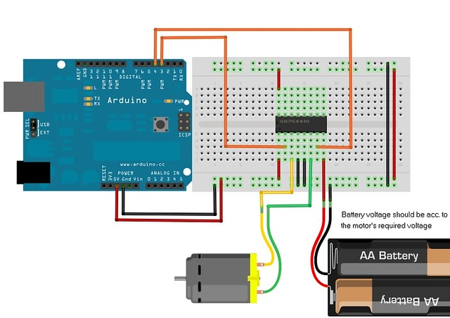 How to drive dc motor using l d with arduino community