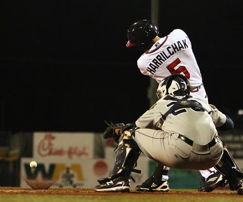 baseball splash batting huntsvillestars mississippibraves ballbouncing coryharrilchak pouyad