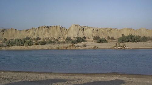 The Hingol River in the Hingol National Park in Las Bela, Balochistan, Pakistan - January 2011