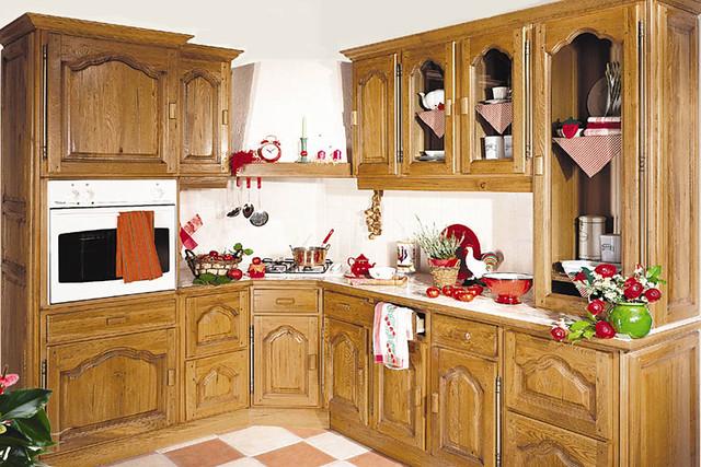Cuisine quip e rustique mod le traditionnel p rigord for Modele cuisine rustique