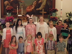 Singing in the Children's Choir on Easter