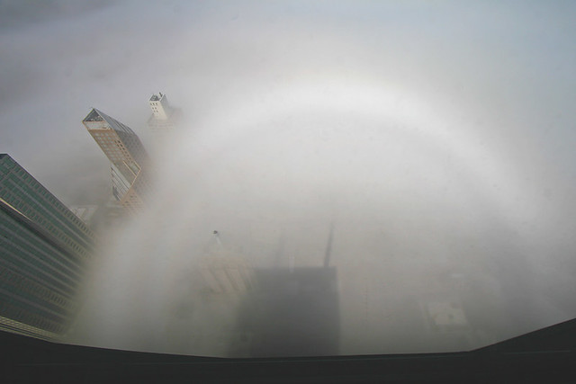 Fogbow from the John Hancock Center Observation Deck