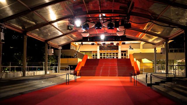 Tapis rouge et marches du palais du festival de Cannes