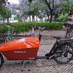 A nossa Cargobike Long carregada