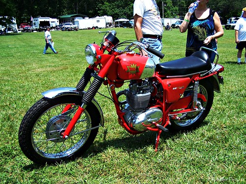Red BSA Motorcycle