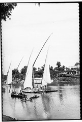 Sailing vessels on the Nile River in Cairo, Egypt