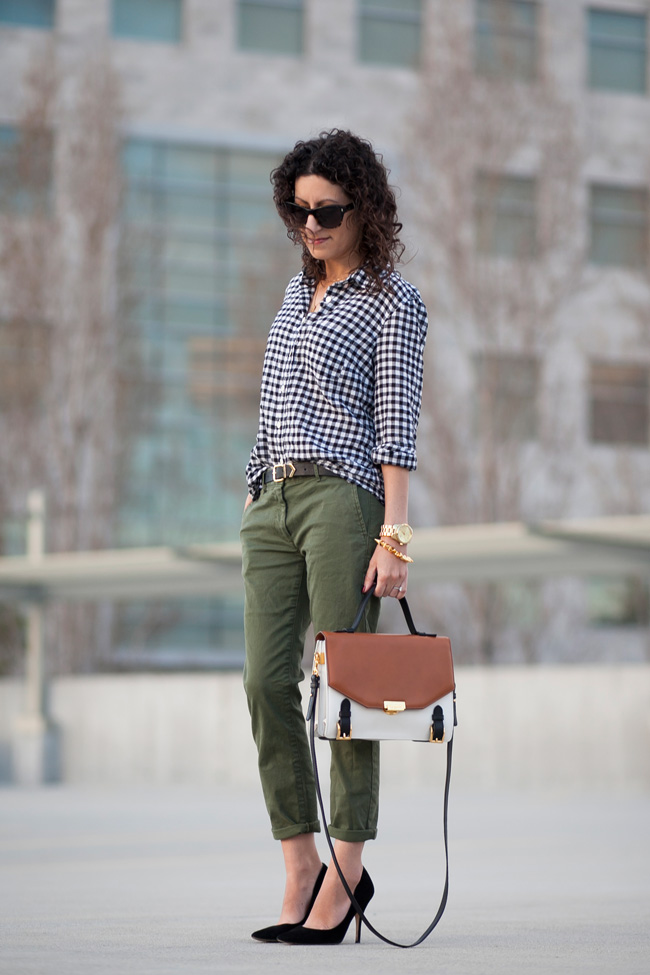j.crew-black-gingham-shirt-gap-olive-khaki-pants-1
