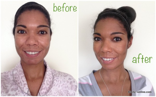 makeup before and after quick moms