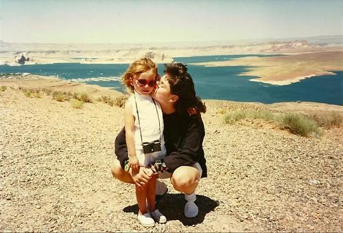 Megan and Rachel Lake Powell 1991 Rez Trip