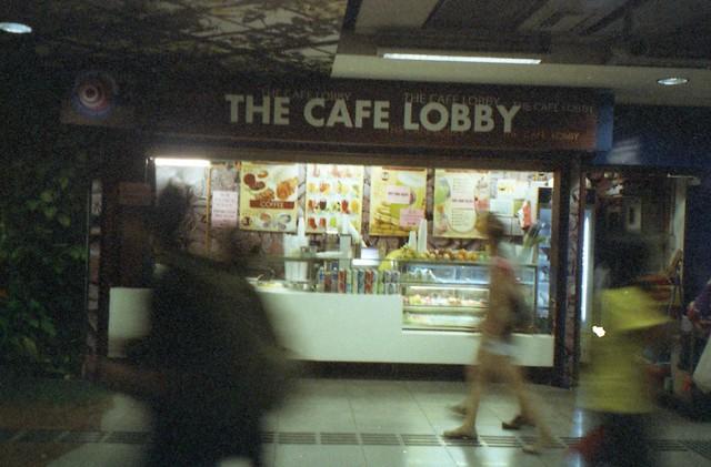 the cafe lobby