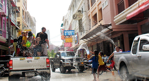 Songkran Street battle in Patong