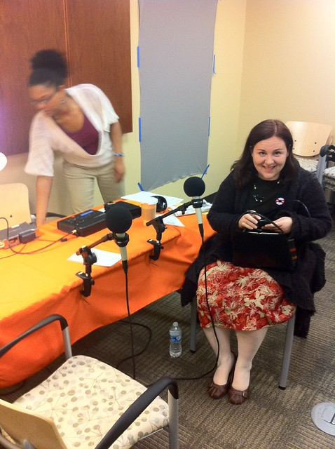 Regina Holliday before StoryCorps Interview