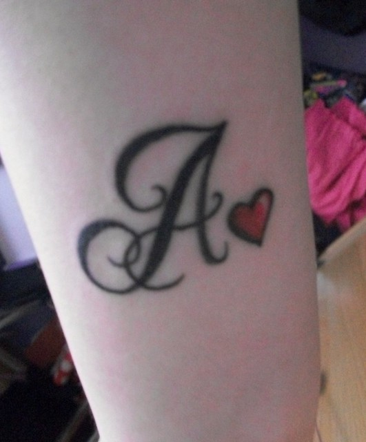 My Initial Tattoo Re-done