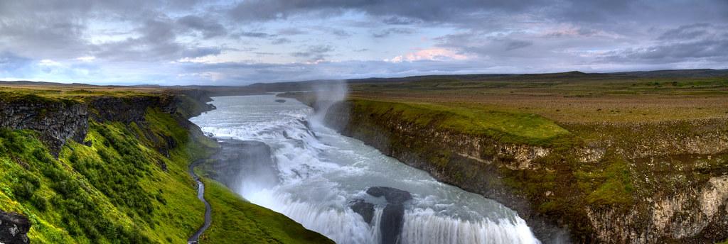 iceland gullfoss waterfall
