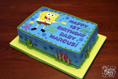 Spongebob Birthday Cake Vanilla Cake With Vanilla