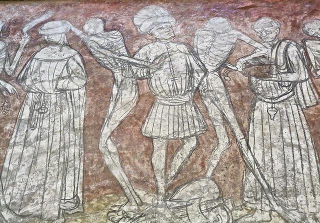 La danse macabre glise de la chaise dieu haute for Chaise dieu danse macabre