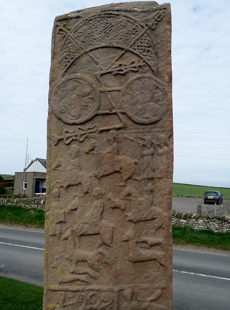 Carved Pictish Stone at Aberlemno, Scotland
