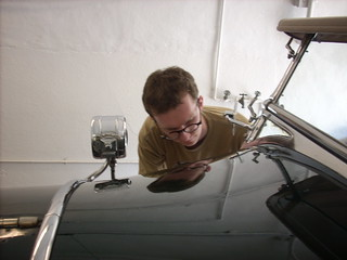 Volunteer and grad student Tyler Putman 2 April 20 2011 kls 025