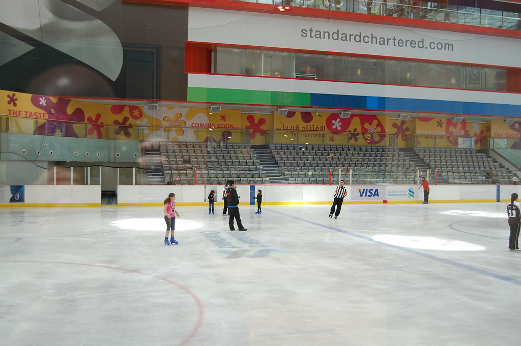 Ice Skate Rink at Dubai Mall