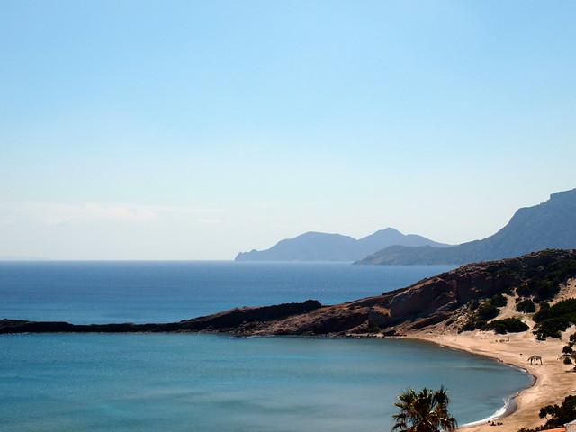 View over Paradise beach near Kamari