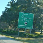 from Mobile, Alabama to Pensacola, Floride, USA