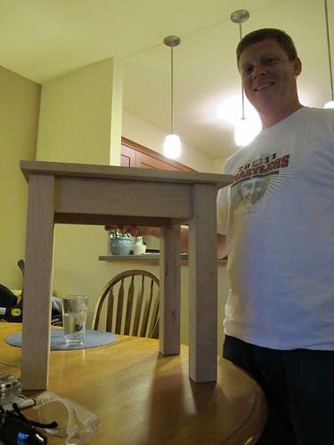 Dave's woodworking project - almost complete