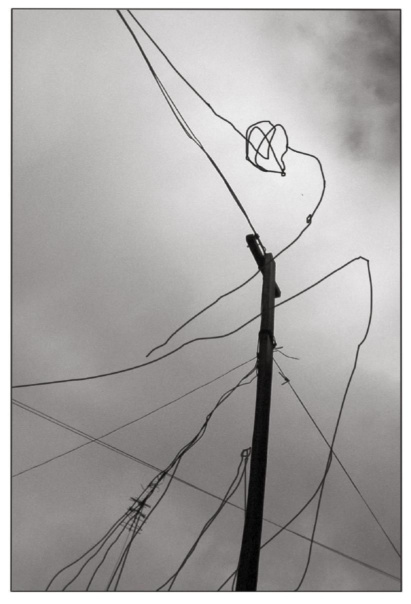 De la serie fotografias de dibujos en cables de - Cables de electricidad ...