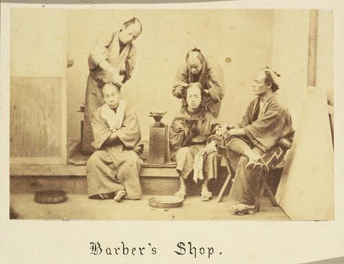 Barber's shop, Japan