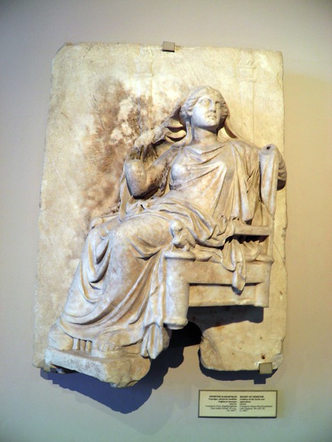 Relief of Demeter, Attic grave stelae and reliefs, Istanbul Archaeology Museum