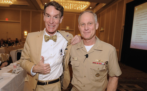 Bill Nye and a Naval officer