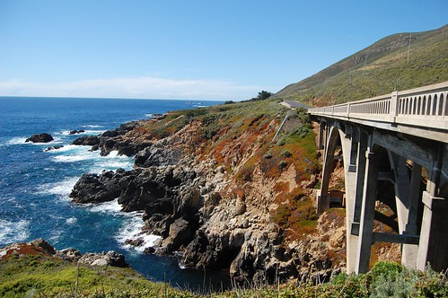One of the iconic bridges along Highway 1.