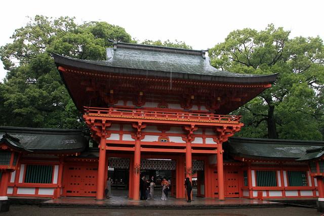 雨の氷川神社