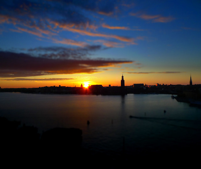 Stockholm Sunset Tilt-shift