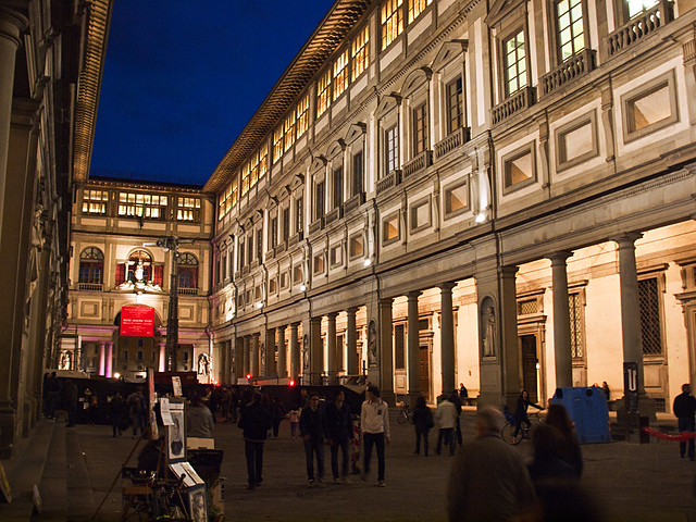 The Uffizi Gallery during White Night Festival