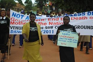 Health protesters KC Sharifah Nabukenya