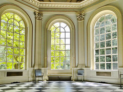 Three Large Windows viewed from the interior of the Octagon in Orleans House