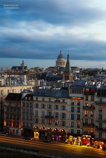 Panthéon, Eglise Saint-Séverin & Quai Saint-Michel, Paris