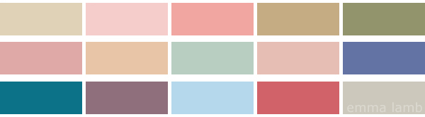 colour palette : spring at last! - curated by Emma Lamb