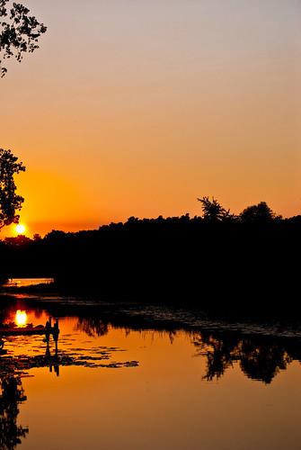 sunset sky orange sun lake color water beautiful cool interesting nikon indiana clear lime angola orland d60 stuben limelake nikond60