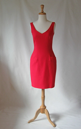 Red DK dress front