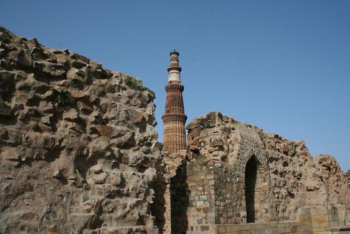 Qutb Minar beyond the Walls