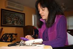 Anastasia Papadopoulos at home in Levittown, N.Y.