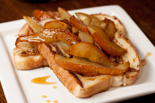 French Toast with Caramalised Pears